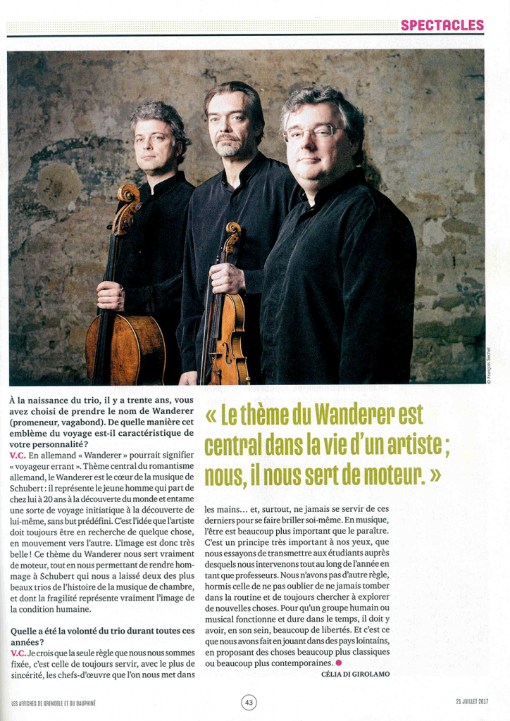 Interview Trio Wanderer - Prieuré de Chirens